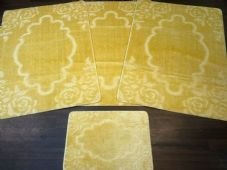 ROMANY GYPSY WASHABLE MATS FULL SET OF 4 MATS/RUGS X LARGE 100X140CM NEW LEMON
